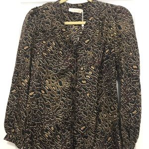 NWT Tory Burch Tunic Sz 0 Jayden Blouse Leopard